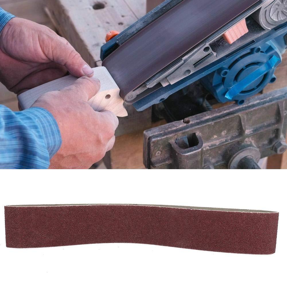 40 Mesh Metal Blando 10 Piezas Wosume Banda de Lijado de /óxido de Aluminio de 27x2 Pulgadas Banda abrasiva de 686x50 mm para Madera