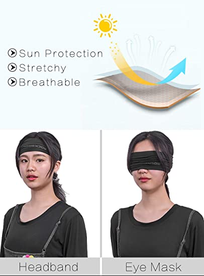 transpirable se enfr/ía cuando est/á mojado. . Negro Hombre estilo de bucle UPF 50+ M/áscara de enfriamiento para el cuello R RUNVEL 7002m1