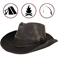 Dorfman Pacific Men s Outback Hat with Chin Cord Brown f8d4d17cdda7