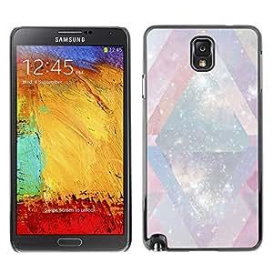 X-ray Impreso colorido protector duro espalda Funda piel de Shell para SAMSUNG Galaxy Note 3 III / N9000 / N9005 - Winter Snow White Universe Chevron Pink