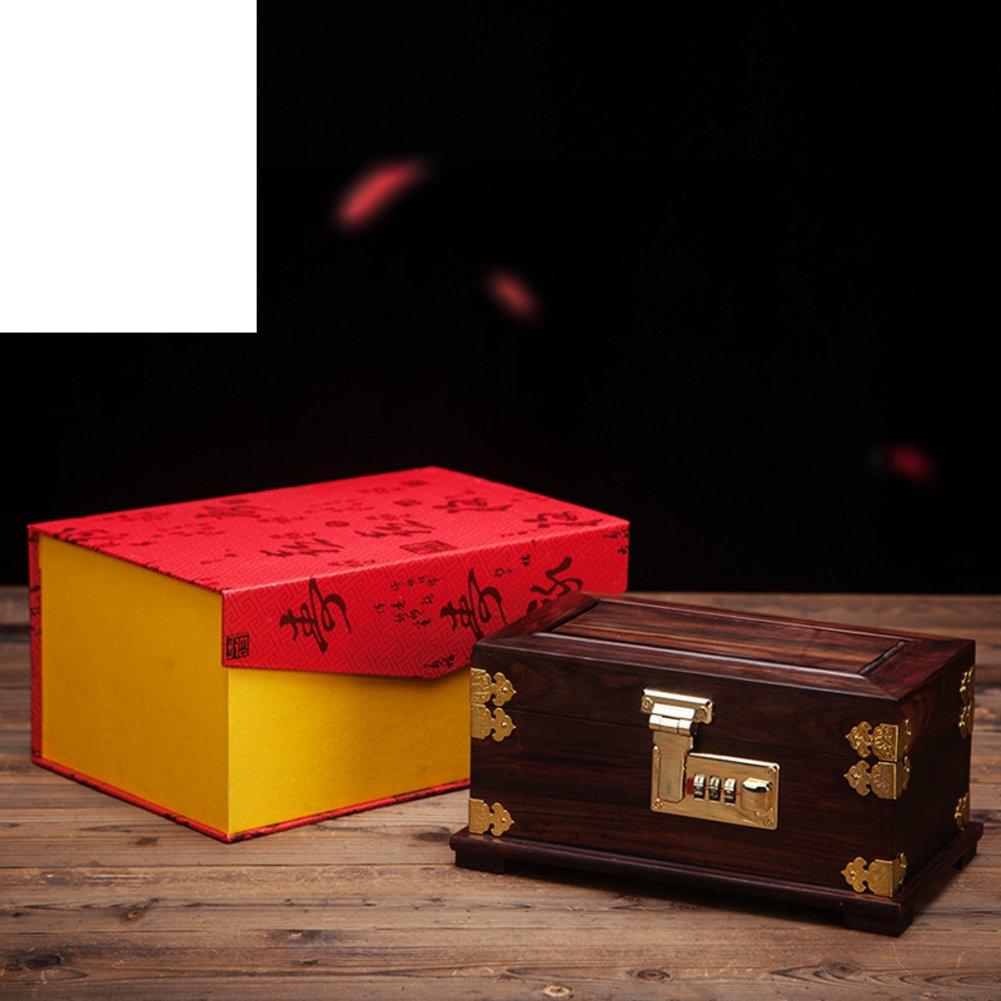 joyero de caoba caja de la joyería de la boda de estilo chino calidad joyería sólida de la madera de la mano caja de almacenamiento Adorno caja de ...