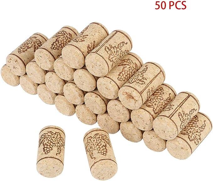 Botella de corchos de vino Tapón de vino, 50 piezas 22X44mm Tapones de corcho de corcho recto Ta...