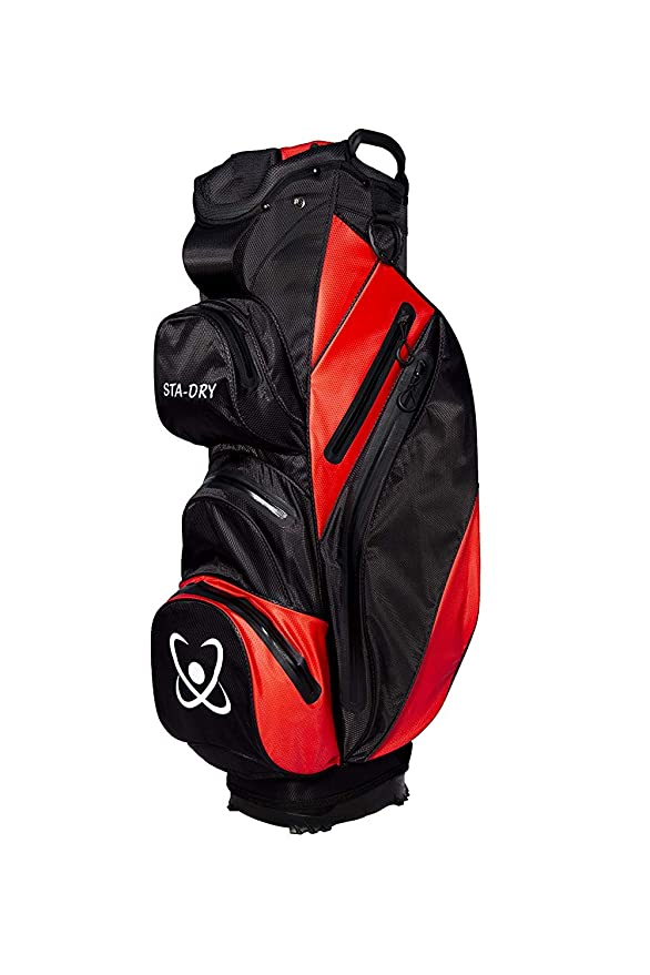 Bolsa de golf, 100 % impermeable, color negro y rojo, de Clearance Golf