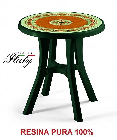 Piani Per Tavoli Da Esterno Su Misura.Altigasi Tavolo Verde Con Piano Mosaico Per Esterno Modello