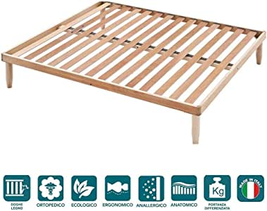 EvergreenWeb - Somier 140x190 para cama a láminas de madera H 35 ...