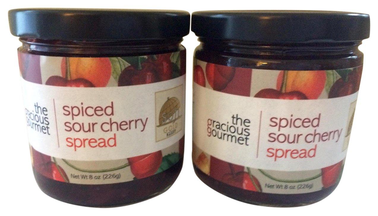 The Gracious Gourmet Spiced Sour Cherry Spread, 16 Ounce