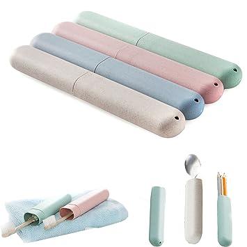 Pack de 2 bolsillo Funda para cepillo de dientes pasta de dientes portátil de viaje proteger