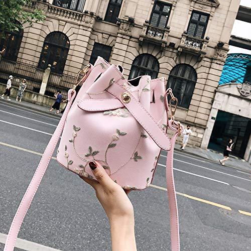 The Canvas 2018 Tote Simple Chain Hand Messenger Personality Bucket Wild Mini Pu Bag TXEqwxqf