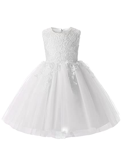 8bb26f4ea82 NNJXD Girl Embroidered Pageant Flower Ball Gown Tutu A-Line Bridesmaid Dress  Size 0-
