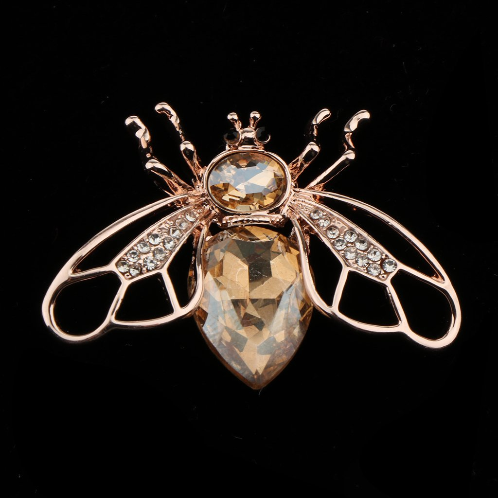 P Prettyia Femmes Vintage Abeille Insecte Bourdon Plaqu/é Cristal Strass Broche Pin Bijoux Cadeau