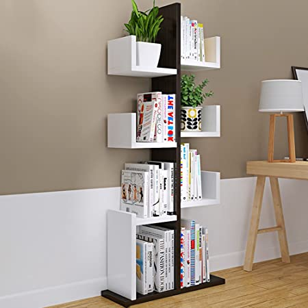 XIAOLIN Simple Bookcase Shelf Modern And Living Room Corner Bookshelf Student Bedroom Children Landing