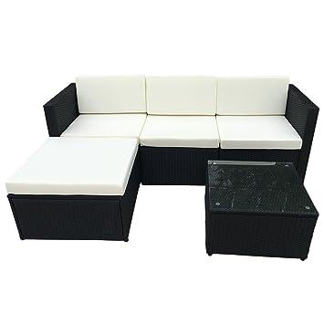 Amazon.de: POLY RATTAN Sitzgruppe Essgruppe Set - Cube Sofa-Garnitur ...