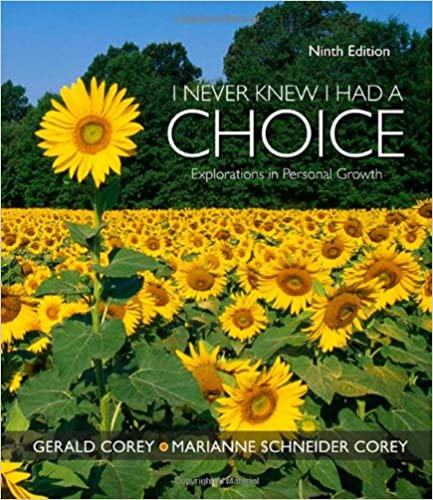 Amazon i never knew i had a choice explorations in personal i never knew i had a choice explorations in personal growth psy 103 towards self understanding 9th edition fandeluxe