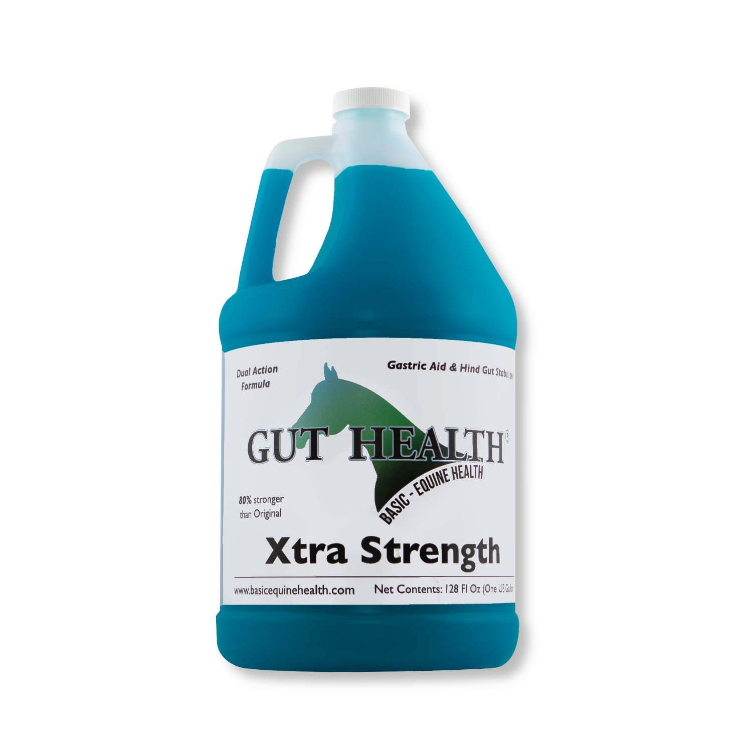 Gut Health Horse Feed Supplement - Xtra Strength Top Dress (1 Gallon) - Ulcer Aid for Horses That Promotes Improved Mood, Coat, Hoof Growth, and Weight Gain by Basic Equine Health