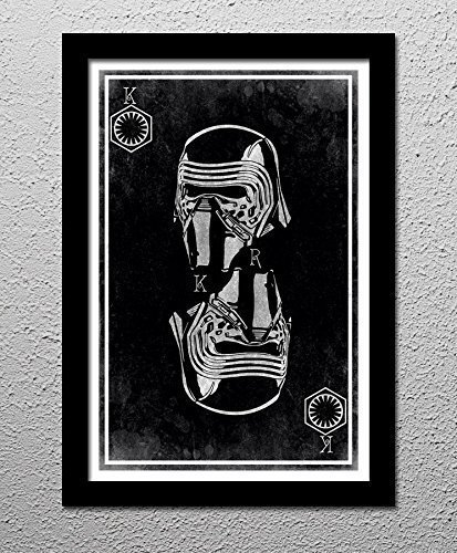 Star Wars Kylo Ren and the First Order Star Wars The Force Awakens - Original Minimalist Art Poster Print
