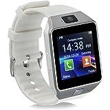 Mokebao Smartwatch portátil Bluetooth GT08, con ranura para tarjeta SIM, para Android Samsung, HTC, LG, Sony (todas las funciones) y dispositivos con iOS iPhone 5/5S/6/Plus (algunas funciones)