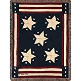 united states navy blanket - 1 Piece 60 X 50 Inches Multi Color Damask Nautical Novelty Pattern Throw Blanket For Kids, Navy Red United States Flag Themed Star Printed Tapestry Woven Elegant Modern, Cotton