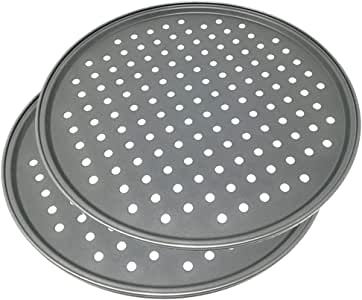 Space Home - Molde para Pizza con Agujeros - Acero al Carbono ...