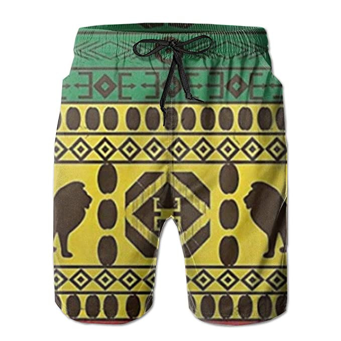 Patrón Tradicional Africano Leones Rasta Jamaica Hombres 3D ...