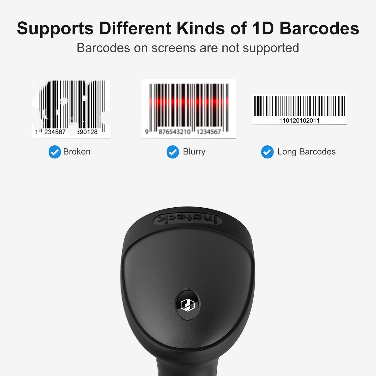 Amazon Inateck Bcst 33 1d Automatic Usb Wired Barcode Scanner