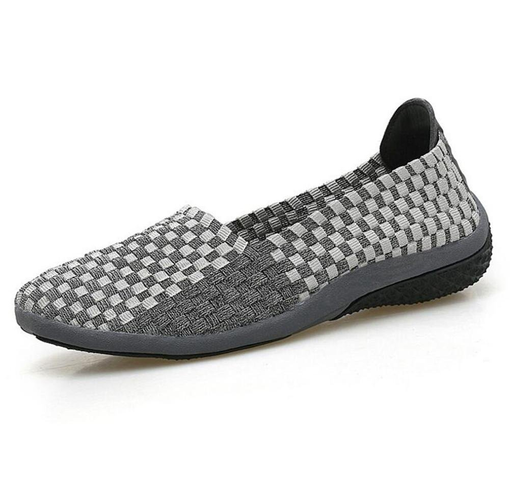 XIE Zapatos Ocasionales de Las Señoras Manual Que Hace Punto Zapatos, Grey, 38 38|grey