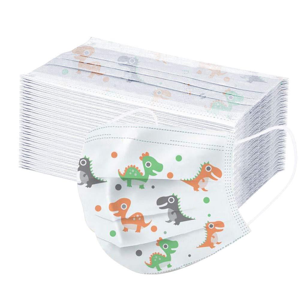 Danmeifu 50/100 Piezas Niños Protección, 𝐌𝐚𝐬𝐜𝐚𝐫𝐢𝐥𝐥𝐚𝐬, 3 Capas Transpirables con Elástico para Los Oídos Impresión linda Protección personal diaria (#1_50PC)