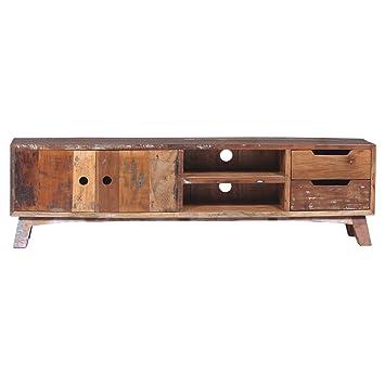 Vintage Tv Möbel B 180 Cm Lowboard Türen 2 Schubladen Fernsehtisch