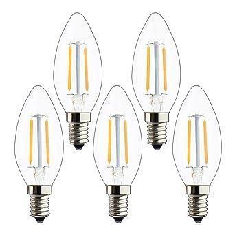 STATUS LED CANDLE BULB 2W=25W SES//E14 INSTANT LIGHT    1 2 3 4 6 8 OR 10 BULBS