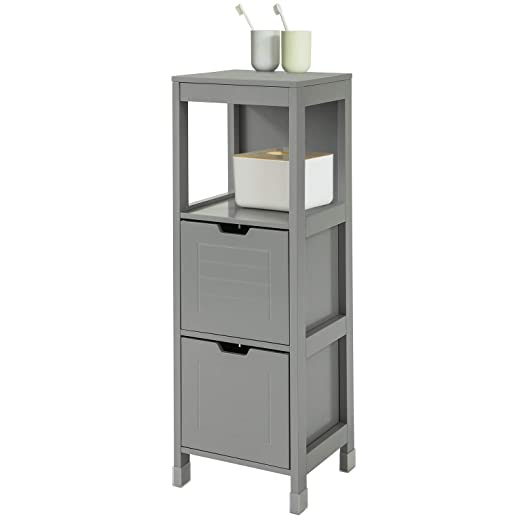 SoBuy FRG127-SG Mueble Columna de baño Armario para baño-1 ...