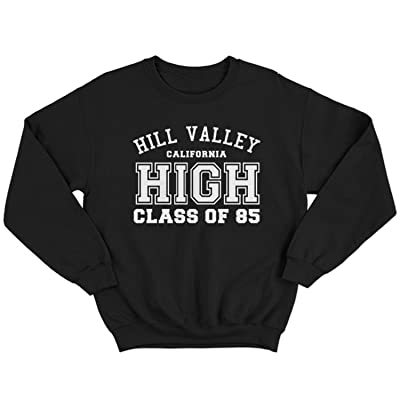 9116 Hill Valley High Homme Sweatshirt Back To The Future BTTF Hoverboard Flux Capacitor Biff Co Emmett Brown