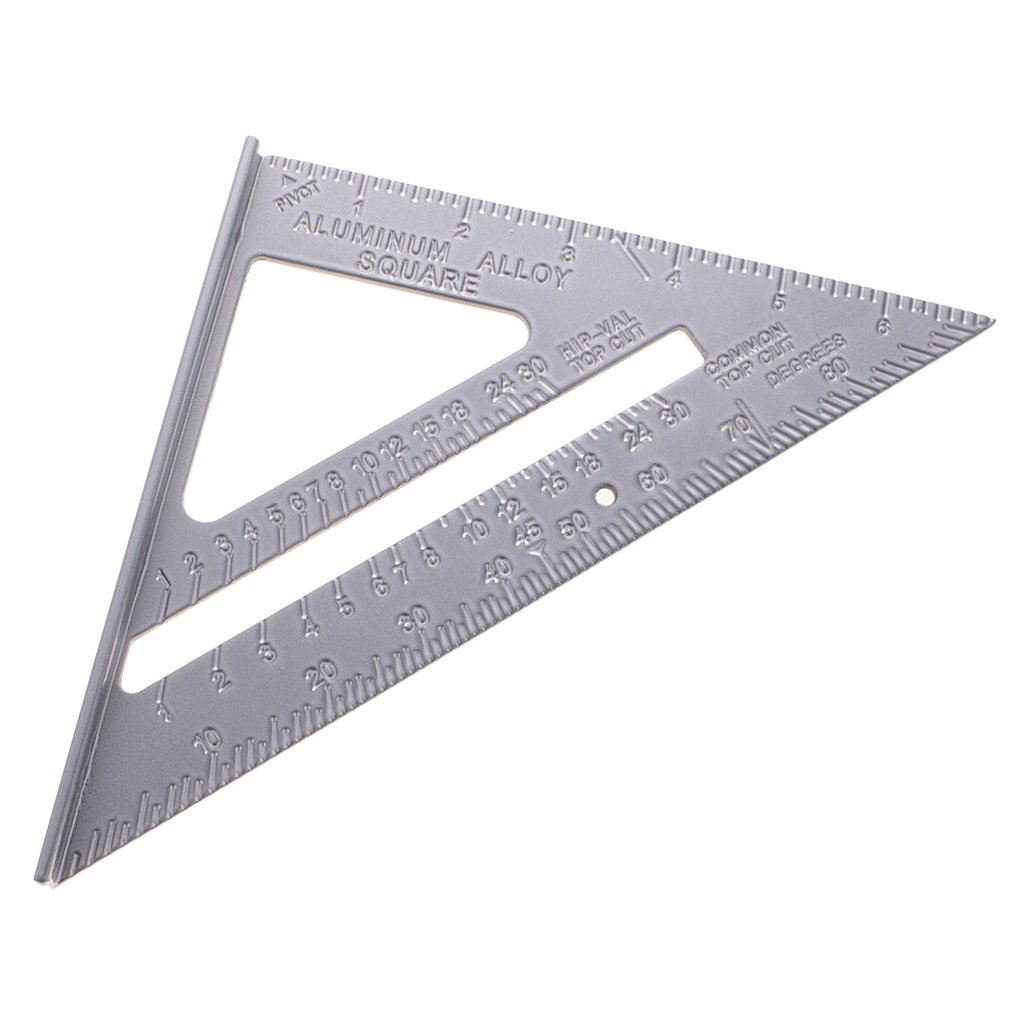 MagiDeal 7'' Pocket Portable Aluminum Alloy Triangle Ruler Square Speed Carpenter Woodworking Framing Measuring Tool