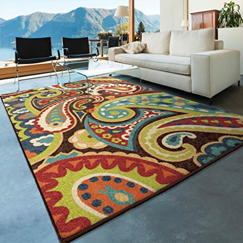 Orian Rugs Veranda Indoor/Outdoor Paisley Area Rug, 6'5