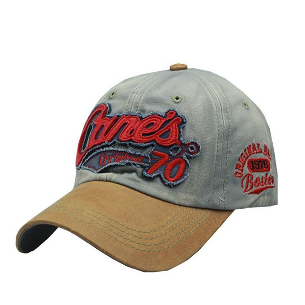 ALIKEEY Women Men Embroidery Cap Fashion Baseball Cap Topee Hat Ponytail Baseball Cap Adjustable Outdoor Mesh Cap Messy Bun Hat Sun Caps for Women Men