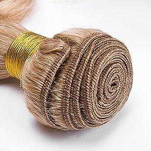 "3 Bundles Body Wave Color 27 Blonde Human Hair Extensions (16"" 18"" 20"")"