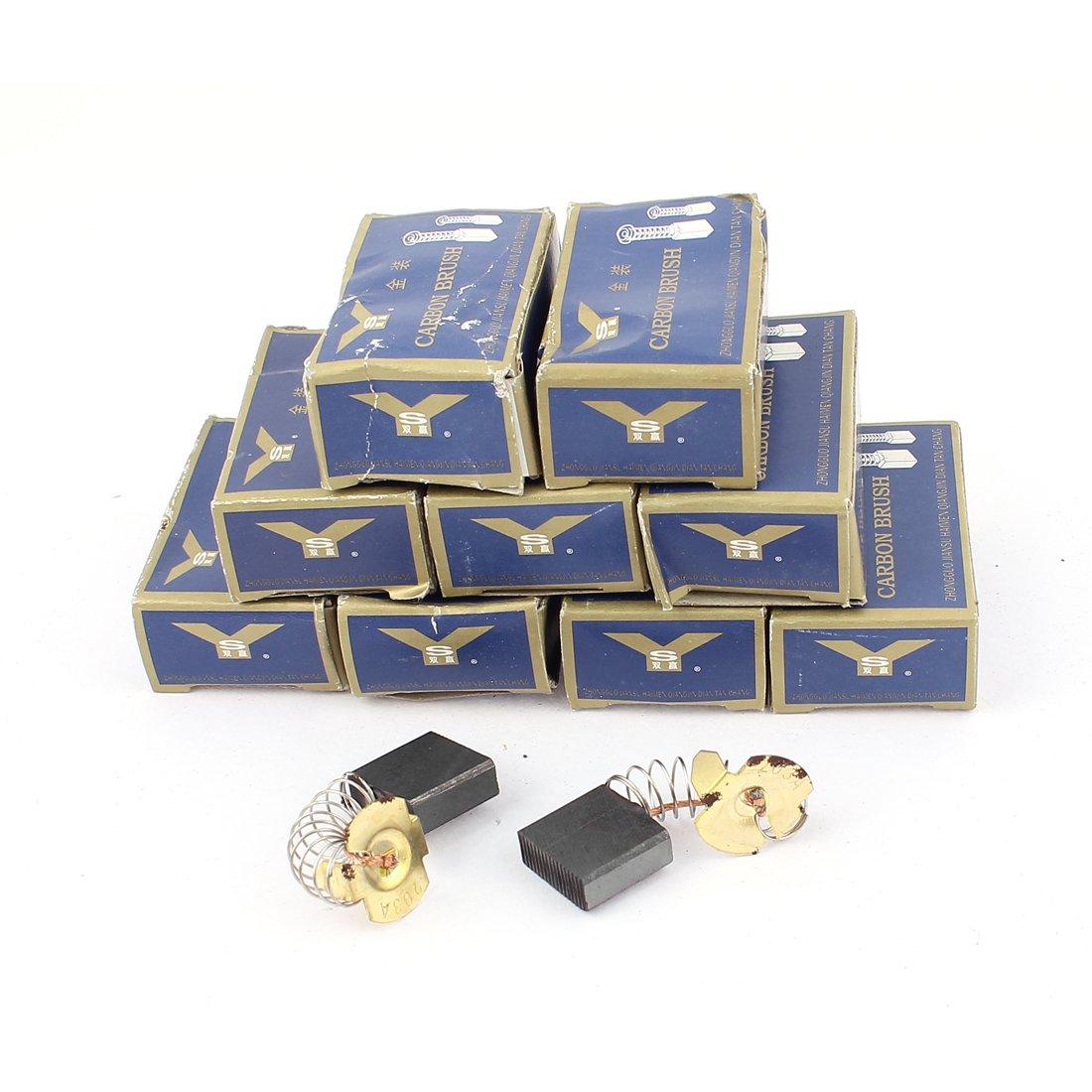 sourcingmap/® 20 pcs CB203 7mm x 18mm x 17mm remplacement balais charbon pour Makita