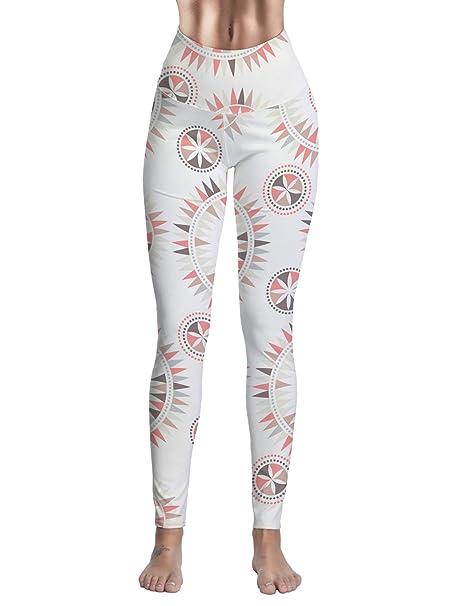 4b0ad107b559e9 Queen Area Women's Mandala Floral Print High Waist Tummy Control Workout  Running Yoga Leggings S