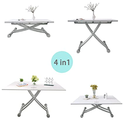 Adjustable Dining Table 4ft Folding Table Multfunctional