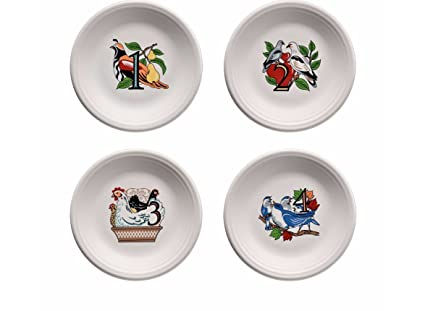twelve days of christmas salad platter set of 4