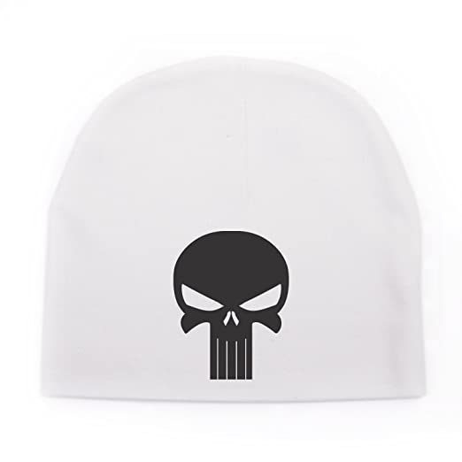 Crazy Baby Clothing Black Punisher Skull Infant Baby Beanie Cap Winter Hat  One Size d91681e27ce0