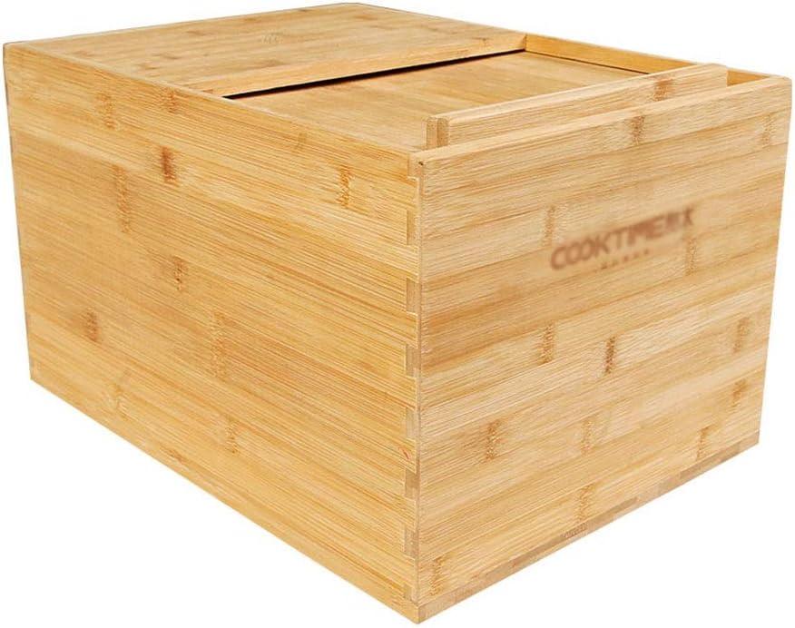 Secchio for La Conservazione del Riso Sigillato in Vasca di Riso con Coperchio Contenitore for La Conservazione del Riso Grande da 10 kg con Motivo Lotus Contenitori per Alimenti