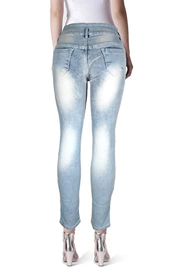 eddb7c59a5f Eyecatchy Strechable Jeans for Women with Designer String On Front (28) Blue
