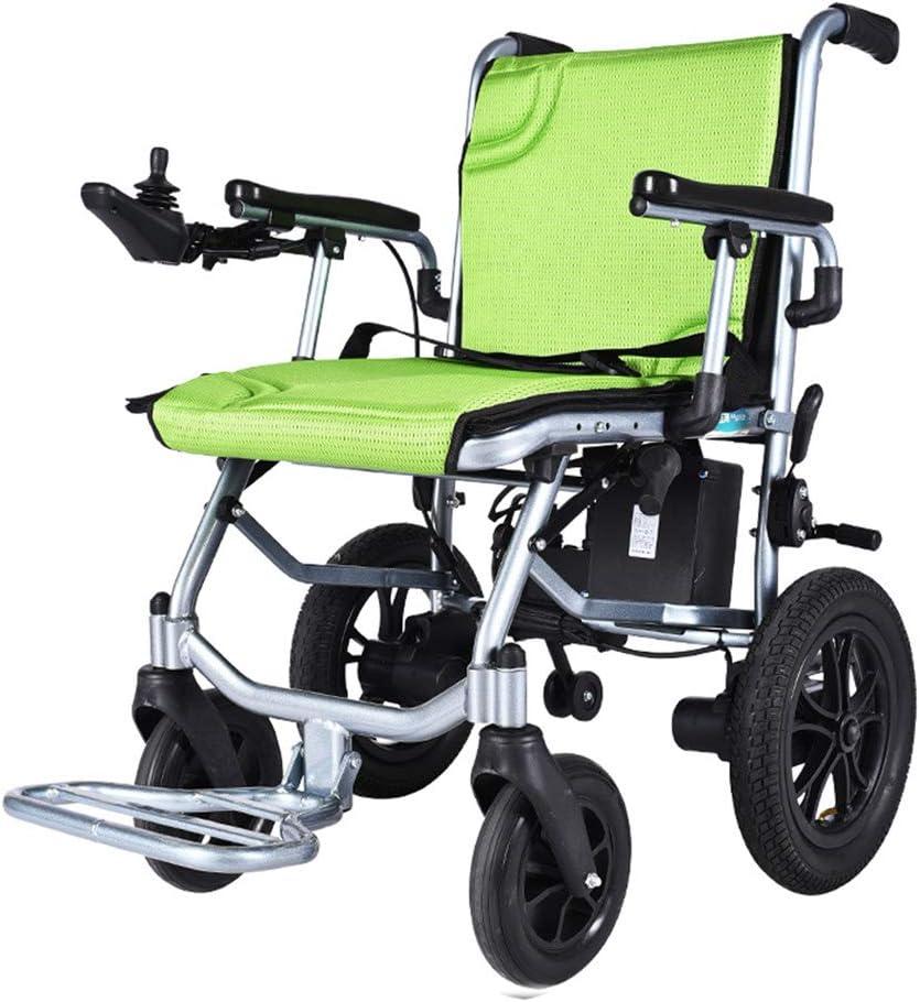 Sillas de Ruedas eléctricas, sillas de Ruedas para Adultos de Peso Ligero, Plegable eléctrica Llevar Silla de Ruedas eléctrica, la Movilidad motorizada, energía portátil, Dual-Control de Versiones