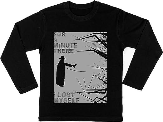 Los Karma Policía Niño Niña Unisexo Negro Camiseta Mangas Largas Kids Black T-Shirt: Amazon.es: Ropa y accesorios