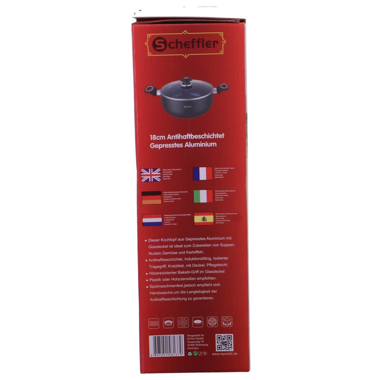 Scheffler Aluminium Teflon Teflon Teflon Topf schwarz B07K816GHG | Sofortige Lieferung  7bd238