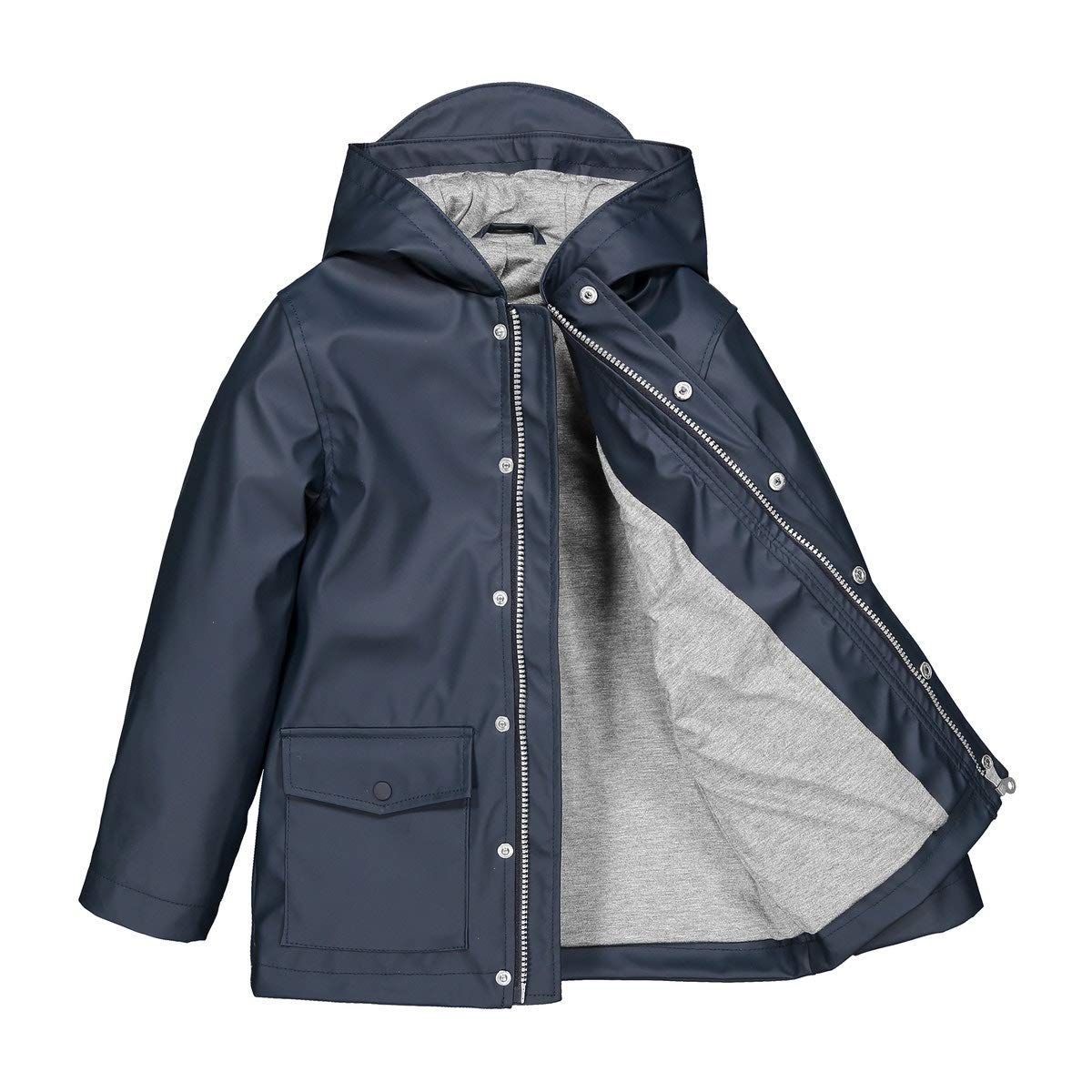 La Redoute Collections Waterproof Hooded Raincoat, 3-12 Years Blue Size 4 Years (102 cm)