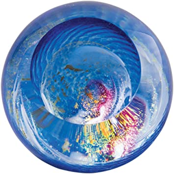 Brand New Glass Eye Studio celestial series paperweight Blue Planet 2219