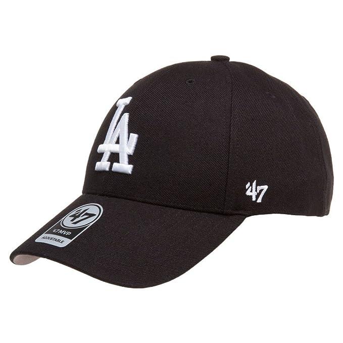 best loved d722c 0c59c  47 Brand Los Angeles LA Dodgers MVP Hat Cap Velcro-back Adjustable Black