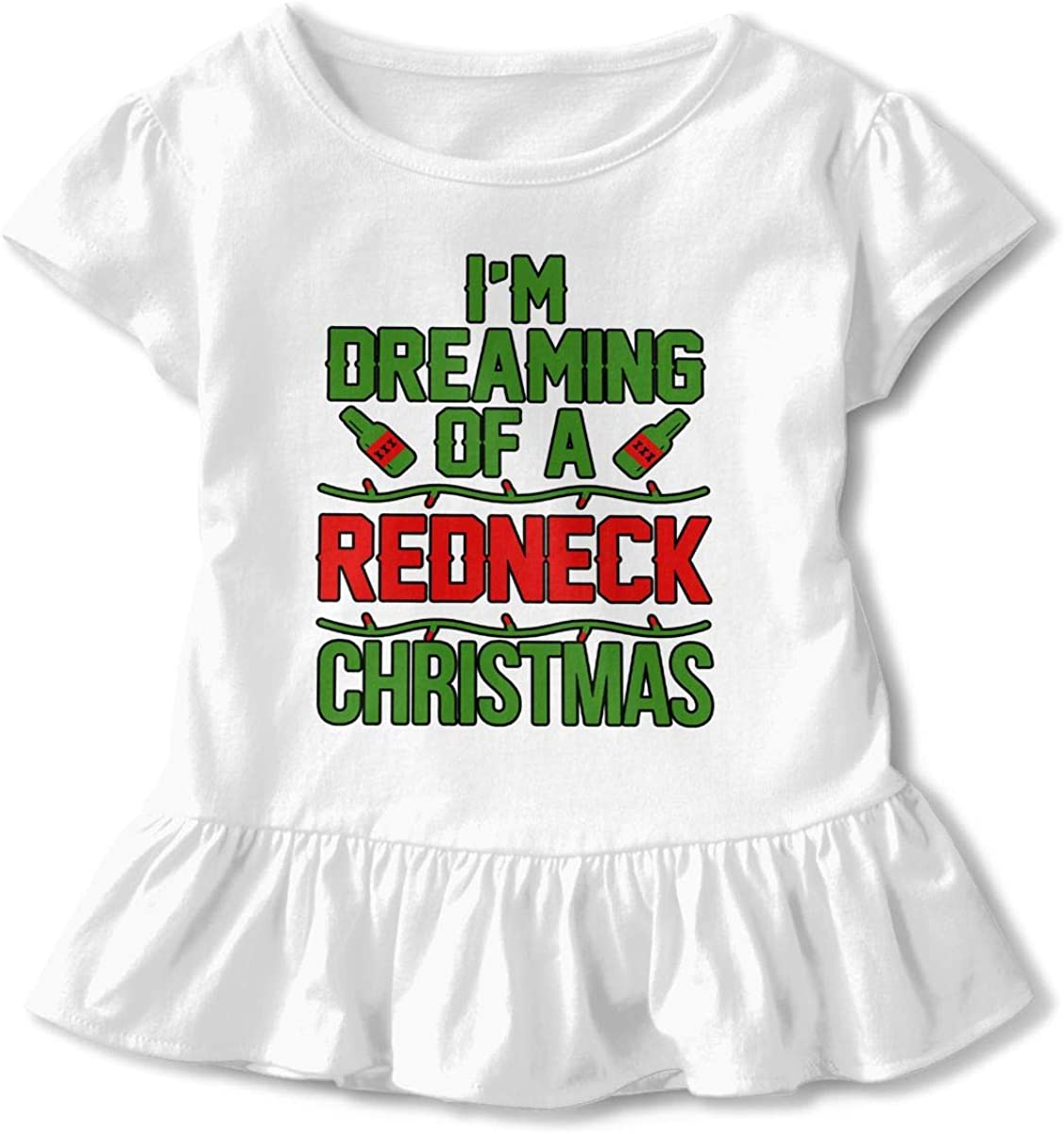 Im Dreaming of A Redneck Christmas Baby Skirts Stylish Kids T Shirt Dress Cotton Flounces Outfits