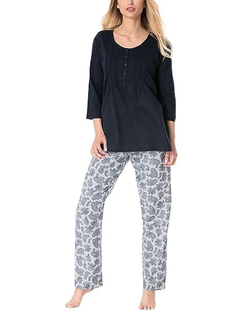 Rossli SAL-PY 1084 Pijama De Dos Piezas Camiseta De Manga 3/4 Pantalón