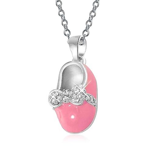 Amazon.com: Bling Jewelry Mini Plata de ley rosa esmalte ...